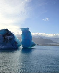 Icebergs in Iceland: an endangered species?